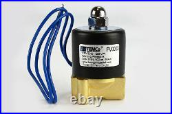 1/4 NPT Electric Brass Solenoid Air Water Valve NC 12V DC Pneumatic