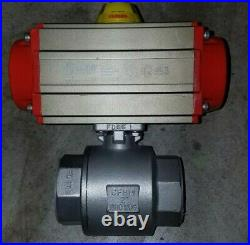 2 Explosion rated actuator / pneumatic valve with solenoid valve, double acting