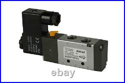 5x 24V AC Solenoid Air Pneumatic Control Valve 5 Port 4 Way 2 Position 1/4 NPT