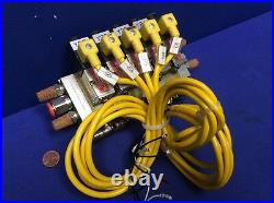 BLOCK of NUMATICS 031SA425E SOLENOID VALVE ASSEMBLY, 5-UNITS With 226-470B PLUG-IN