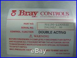 Bray Controls 8 Butterfly Valve With Solenoid 2.5w And Pneumatic Actuator