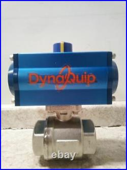 Dynaquip Controls P2S28AJDA075A 2 In FNPT Pneumatic Actuated Ball Valve