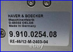 HAVER & BOECKER RE-46/12-M-2403-04 Pneumatic Manifold Assembly. (24VDC/8 bar)