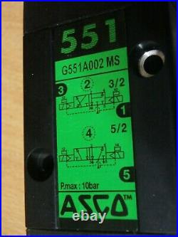 Pneumatic valve ASCO g551a002ms 24VDC with two coils