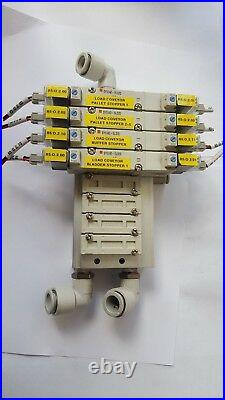 SMC MANIFOLD With (X4) SY5340-5LOZD SOLENOID VALVE (IN3S3B1)