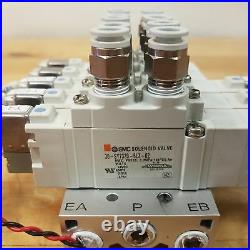SMC Pneumatic Solenoid Valve Assembly, 24VDC, 0.7mPa 30-SY7320-5LZ-02, USED