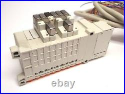 SMC VV5QC11-08N7FD2 Loaded Pneumatic Manifold Solenoid Bank with DS25 Cable