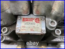 Used Schrader Bellows 120 Vac 140 Psi Pneumatic Solenoid Valve With Base L655391
